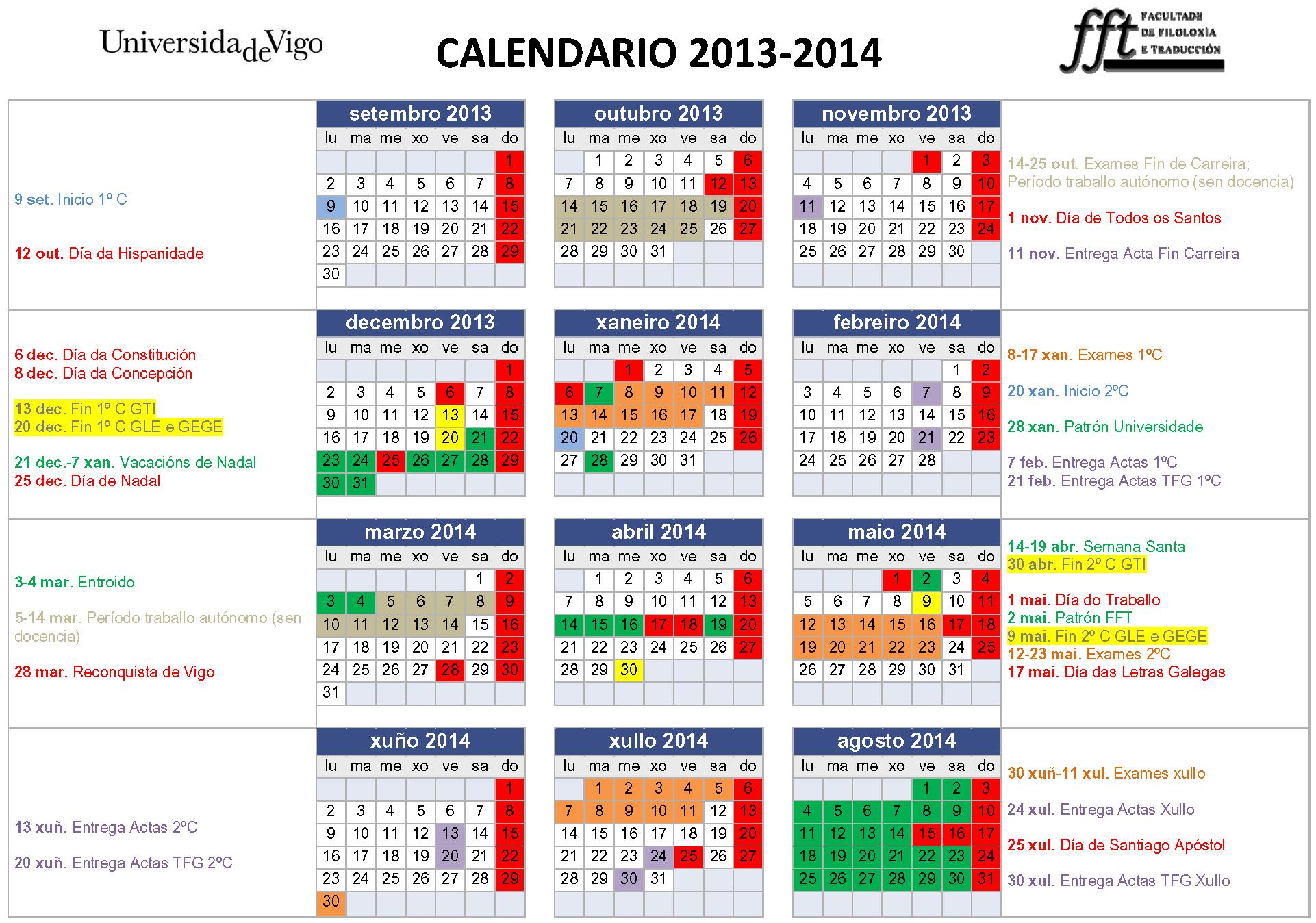 Pics Photos - Calendario Escolar 2013 2014 Calendario Jpg